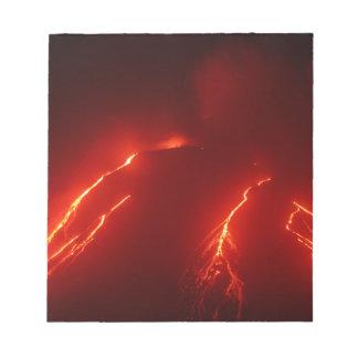 Night erupt volcano Klyuchevskaya Sopka Notepad