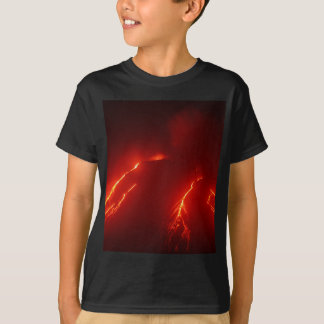 Night erupt volcano Klyuchevskaya Sopka T-Shirt