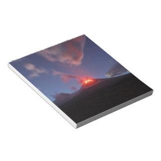 Night eruption Klyuchevskaya Sopka in Kamchatka Notepad