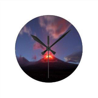 Night eruption Klyuchevskaya Sopka in Kamchatka Round Clock