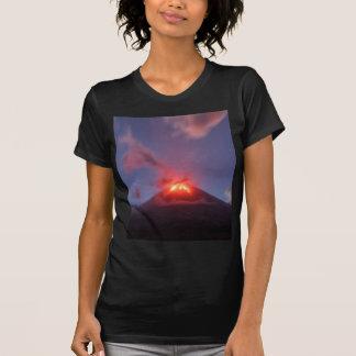 Night eruption Klyuchevskaya Sopka in Kamchatka T-Shirt