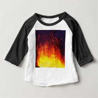 Night eruption volcano: fireworks lava in crater baby T-Shirt