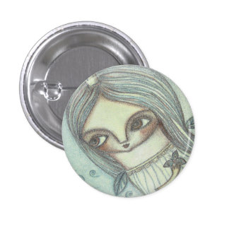 Night fairy 3 cm round badge