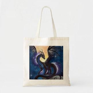 Night Fall Dragon art by Carla Morrow Tote Bag