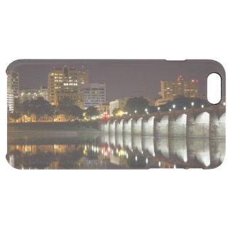 Night Falls on the Market Street Bridge Clear iPhone 6 Plus Case