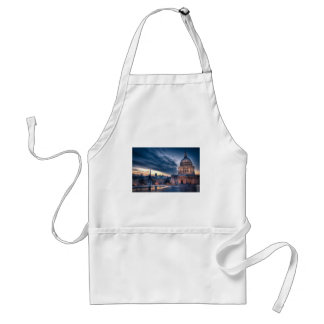 Night falls over St. Paul's Cathedral, London Standard Apron