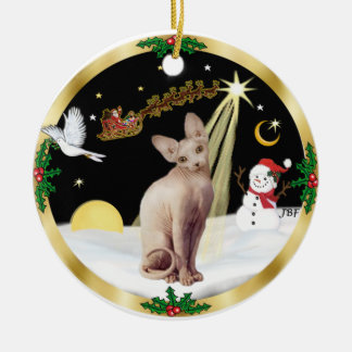 Night Flight - Sphynx 2b Ceramic Ornament