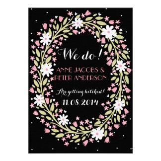 Night Floral Wedding Invitation