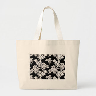 night flowers large tote bag