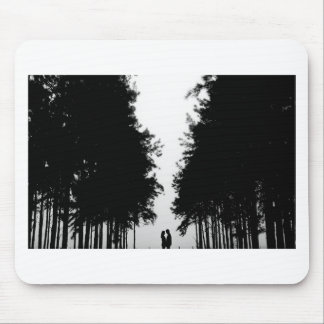 Night forest cover mouse pad