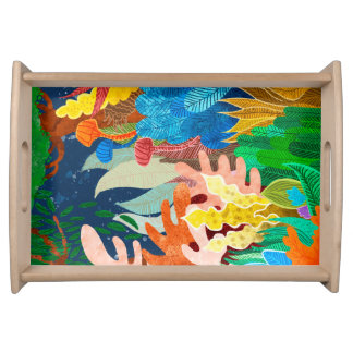 Night Forest Serving Tray