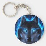 Night Ghost Wolf Keychains