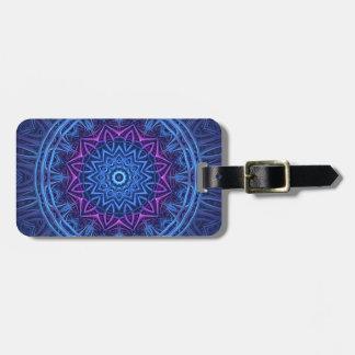 Night Glow Mandala Luggage Tag