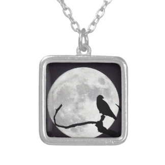 Night Hawk Silver Plated Necklace