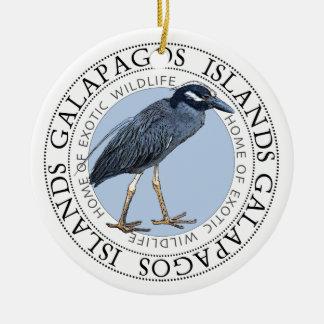 Night Heron Galapagos Islands Ceramic Ornament