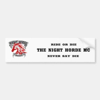 Night Horde Missouri Bumper Sticker