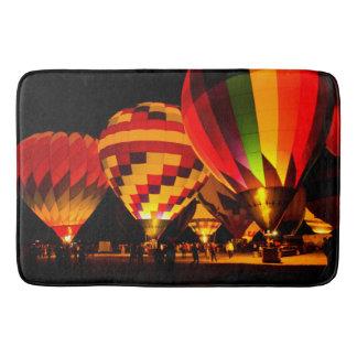 Night Hot Air Balloon Bath Mat