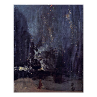 Night in Black and Gold by James McNeill Whistler Poster