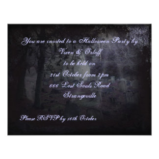 Night in the Graveyard Halloween Horror Invitation