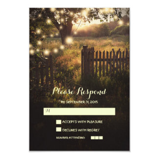 night lanterns romantic wedding RSVP card 9 Cm X 13 Cm Invitation Card