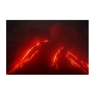 Night lava explosion Klyuchevskaya Sopka Acrylic Print