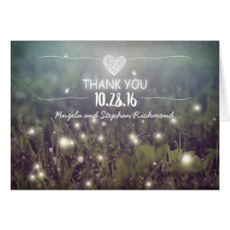 night lights fireflies whimsical wedding thank you card