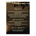 Night Lights Nature Wedding Details 11 Cm X 16 Cm Invitation Card