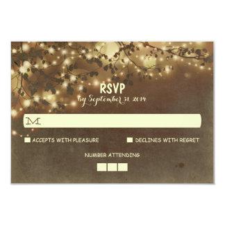 Night Lights Rustic Wedding RSVP Cards 9 Cm X 13 Cm Invitation Card