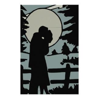 Night love stationery