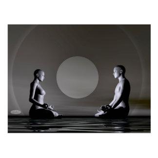 Night meditation - 3D render Postcard
