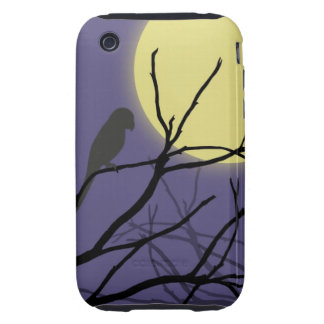 Night Moon and Bird Tough iPhone 3 Cases