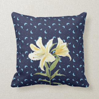 Night Moon Casablanca Lily Cushion