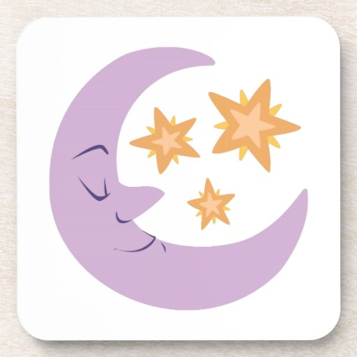 Night Moon Drink Coasters