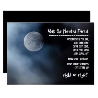 Night Moon - Haunted Forest Invitation