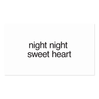 night night sweet heart business card template