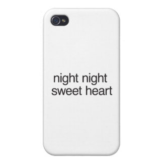 night night sweet heart iPhone 4 cases