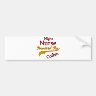 Night Nurse Powered By Coffee Bumper Sticker
