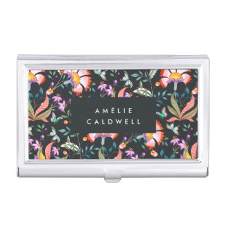 Night Oasis Personalized Business Card Holder