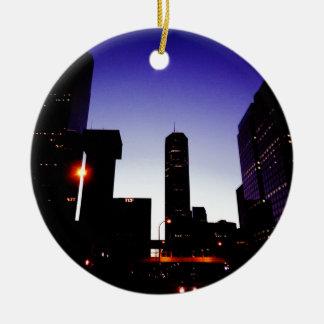 Night Of Minneapolis Ceramic Ornament