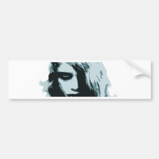 Night of the living zombie girl bumper stickers