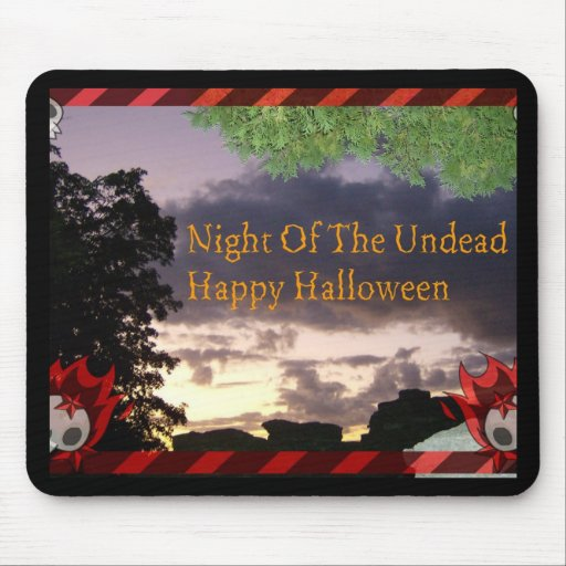 Night Of The Undead Halloween Mouse Pad