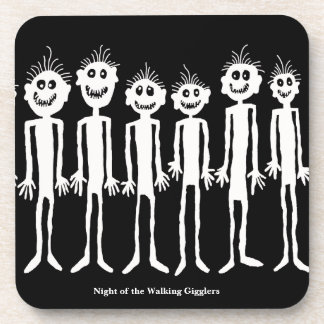 Night of the Walking Gigglers Petroglyph Coaster