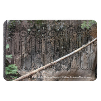 Night of the Walking Gigglers Petroglyph Magnet