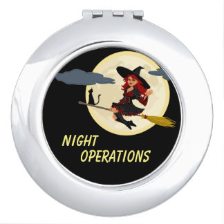 Night Operations funny customizable Compact Mirrors