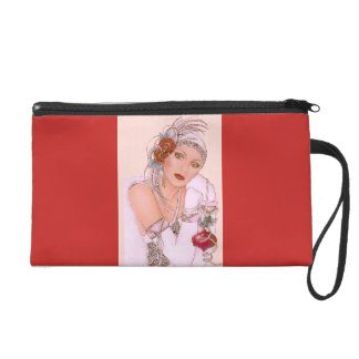 NIGHT OUT WOMAN IN PINK AND RED WRISTLET