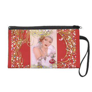 NIGHT OUT WOMAN IN RED W SPARKLES WRISTLET