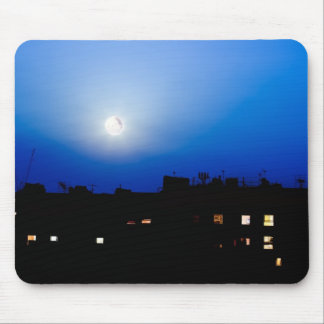 Night over London buildings with moon Mousepad