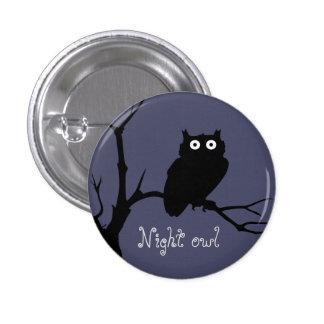Night owl 3 cm round badge