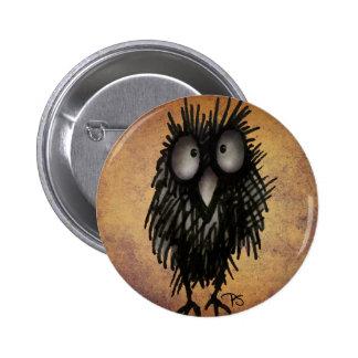 Night Owl Art for Owl Lovers 6 Cm Round Badge