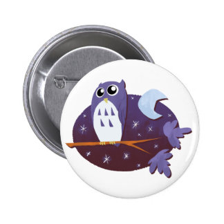 Night Owl 6 Cm Round Badge